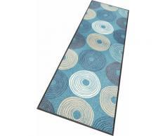 wash+dry by Kleen-Tex Läufer Cyclone, rechteckig, 7 mm Höhe, In- und Outdoor geeignet, waschbar blau Teppichläufer Bettumrandungen Teppiche