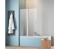 maw by GEO Badewannenaufsatz A-B200, Breite 120 cm silberfarben Duschwände Duschen Bad Sanitär