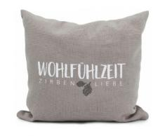 herbalind Zirbenkissen 5651 Zirbenkissen, (1 tlg.), Entspannung und Wohlfühlen weiß Dekokissen gemustert Kissen