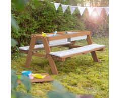 roba Kindersitzgruppe PICKNICK for 4' Outdoor +, mit Spielwanne braun Kinder Sitzgruppen Kinderstühle Stühle Sitzbänke