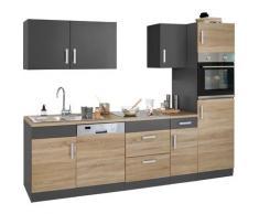 HELD MÖBEL Küchenzeile Gera, ohne E-Geräte, Breite 270 cm grau Küchenzeilen Geräte -blöcke Küchenmöbel Arbeitsmöbel-Sets