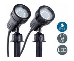B.K.Licht,LED Gartenleuchte Nima 2 schwarz Gartenleuchten Außenleuchten Lampen Leuchten