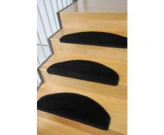 Stufenmatte Trend Living Line stufenförmig Höhe 8 mm maschinell getuftet, schwarz, schwarz