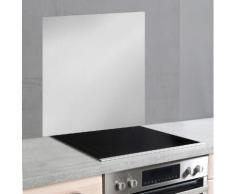 WENKO Küchenrückwand Unifarben, (1-tlg.) silberfarben Küchenrückwände Küche Ordnung Spritzschutzwände