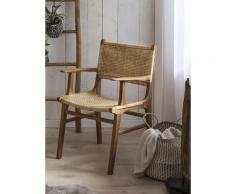 SIT Esszimmerstuhl, mit Armlehnen, moderner Rattanstuhl beige Esszimmerstuhl Esszimmerstühle Stühle Sitzbänke