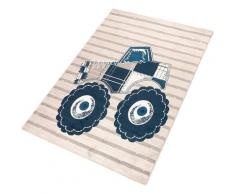 Kinderteppich, Truck, Living Line, rechteckig, Höhe 12 mm, maschinell gewebt blau Kinder Bunte Kinderteppiche Teppiche