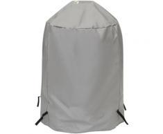 Tepro Grill-Schutzhülle, BxLxH: 90x73x90 cm, für Kugelgrill groß grau Zubehör Grills Garten Balkon Planen
