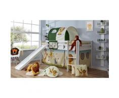 Ticaa Hochbett Rene weiß Kinder Kinderbetten Kindermöbel Hochbetten