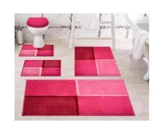 Badematte Diviso, Grund, Höhe 20 mm, rutschhemmend beschichtet rosa Gemusterte Badematten