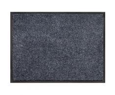 Home affaire Fußmatte Noyack, rechteckig, 7 mm Höhe blau Designer Fußmatten