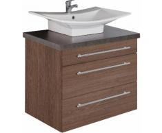 MARLIN Waschtisch Laos 3110, Breite 80 cm, Farbe Waschtischplatte & Waschbeckenart wählbar beige Waschtische Badmöbel
