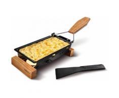BOSKA Holland Käse-Raclette Eichenholz ToGo, schwarz, Neutral, schwarz, Eichenholz, Antihaftbeschichtung