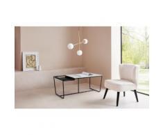 LeGer Home by Lena Gercke Couchtisch Ellea, Tischplatte aus Glas, herausnehmbares Tablett weiß Couchtische eckig Tische Tisch