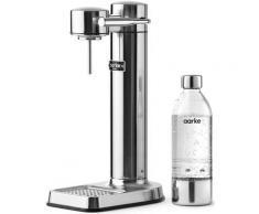 Aarke Wassersprudler Carbonator 3, (Set, 3 tlg., PET-Flasche, Reinigungstuch) silberfarben Küchenkleingeräte SOFORT LIEFERBARE Haushaltsgeräte
