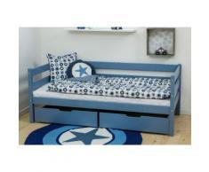 Hoppekids Einzelbett IDA-MARIE (Set) blau Kinder Kindermöbel Nachhaltige Möbel Betten