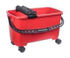 Connex Putzeimer COX790701, (2 tlg.), Fliesenrollenwasch-Set rot Putzhelfer Reinigung Haushaltswaren