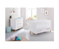 Pinolino Babymöbel-Set Riva (Spar-Set 2-tlg), weiß, weiß/esche