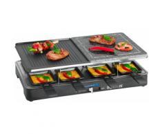 BOMANN Raclette RG 2279 CB, 8 Raclettepfännchen, 1400 Watt schwarz Küchenkleingeräte Haushaltsgeräte