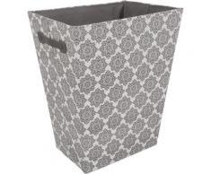 Franz Müller Flechtwaren Wäschebox TexBox, Ornamente, mit seitlichen Tragegriffen grau Wäschetruhen Wäschekörbe Badmöbel