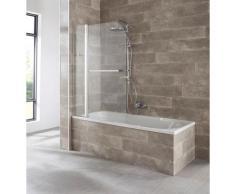 welltime Badewannenaufsatz Mataro, BxH: 100x140cm silberfarben Duschwände Duschen Bad Sanitär