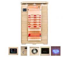 HOME DELUXE Infrarotkabine Redsun M, 40 mm, für bis zu 2 Personen beige Infrarotkabinen Sauna Bad Sanitär