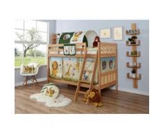Ticaa Etagenbett Erni, mit Rollrost und Textil-Set wahlweise Matratze, Buche beige Kinder Kinderbetten Kindermöbel
