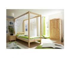 Ticaa Himmelbett LaLuna beige Einzelbetten Betten