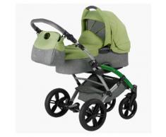 Knorrbaby Kombi-Kinderwagen Voletto Happy Colour, grau-hellgrün grau Kinder Kombikinderwagen Kinderwagen Buggies