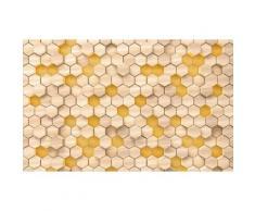 Vliestapete Woodcomb Birch Komar grafisch, braun, braun