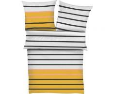 s.Oliver Bettwäsche Mako-Satin 5724, mit Streifen gelb nach Größe Bettwäsche, Bettlaken und Betttücher
