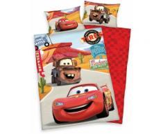 Disney Kinderbettwäsche Cars on Road, mit Automotiven rot Bettwäsche-Sets Bettwäsche, Bettlaken und Betttücher