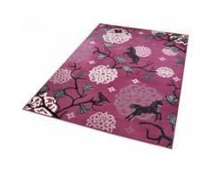 Kinderteppich Einhorn 1 Zala Living rechteckig Höhe 12 mm maschinell gewebt, lila, Neutral, violett