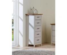 Home affaire Kommode Norfolk, mit 5 Schubladen, Breite 44 cm grau Schubladenkommoden Kommoden Sideboards