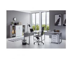 BMG Büro-Set Tabor Office 2 (Set, 6-tlg) grau Arbeitszimmer Büro Made in Germany - Möbel Arbeitsmöbel-Sets