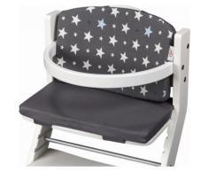 tiSsi Kinder-Sitzauflage Sterne, grau, für Hochstuhl; Made in Europe grau Baby Zubehör Hochstühle Babymöbel
