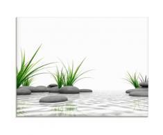 Artland Glasbild 3 D Steine, Zen, (1 St.) weiß Glasbilder Bilder Bilderrahmen Wohnaccessoires