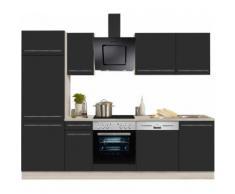 OPTIFIT Küchenzeile mit E-Geräten »Bern«, Breite 270 cm, grau, lava Lack-Optik/akaziefarben