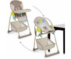 Hauck Hochstuhl Sit'n Relax Multi Dots Sand, mit zwei Aufsätzen beige Esszimmerstühle Stühle Sitzbänke