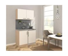 RESPEKTA Küchenzeile, mit Glaskeramikkochfeld und Kühlschrank, Breite 100 cm F (A bis G) weiß Küchenzeile Küchenzeilen -blöcke Küchenmöbel Küche Ordnung