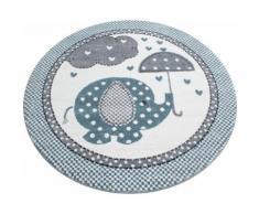 Kinderteppich, Kids 570, Ayyildiz, rund, Höhe 12 mm, maschinell gewebt blau Kinder Bunte Kinderteppiche Teppiche