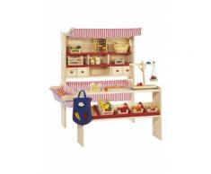 Pinolino Kaufladen Marktstand Lucy, Made in Europe beige Kinder Holzspielzeug