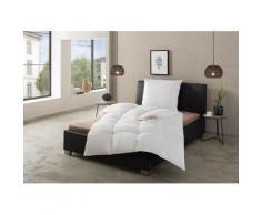 RIBECO Federbettdecke + Federkissen Lara, (Spar-Set), Naturprodukt zum TOP-Preis weiß Allergiker Bettdecke Bettdecken Bettdecken, Kopfkissen Unterbetten