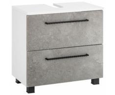 Held Möbel Waschbeckenunterschrank Mons, weiß, weiß/betonfarben