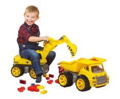 BIG Spielzeug-Bagger Power Worker Maxi Digger, Aufsitz-Bagger, Made in Germany gelb Kinder Ab 3-5 Jahren Altersempfehlung