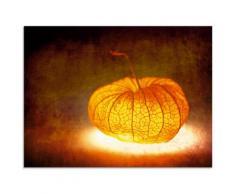 Artland Glasbild Lampion orange Glasbilder Bilder Bilderrahmen Wohnaccessoires