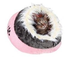 TRIXIE Tierbett Minou, Katzenhöhle rosa Hundebetten -decken Hund Tierbedarf