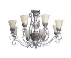 CHIARO Kronleuchter Bologna, E27, 1 St., Hängeleuchte, Pendellampe, Pendelleuchte silberfarben Deckenleuchten SOFORT LIEFERBARE Lampen Leuchten