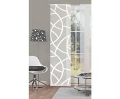 HOME WOHNIDEEN Schiebegardine CASSÉ, Leinen-Voile, mit transparentem Scherli weiß Wohnzimmergardinen Gardinen nach Räumen Vorhänge