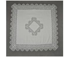 Stickereien Plauen Mitteldecke Tischdecke Rosenzauber, Plauener Spitze, Made in Germany beige Mitteldecken Tischwäsche Tischdecken