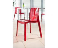 SalesFever Esszimmerstuhl, rot, rot transparent